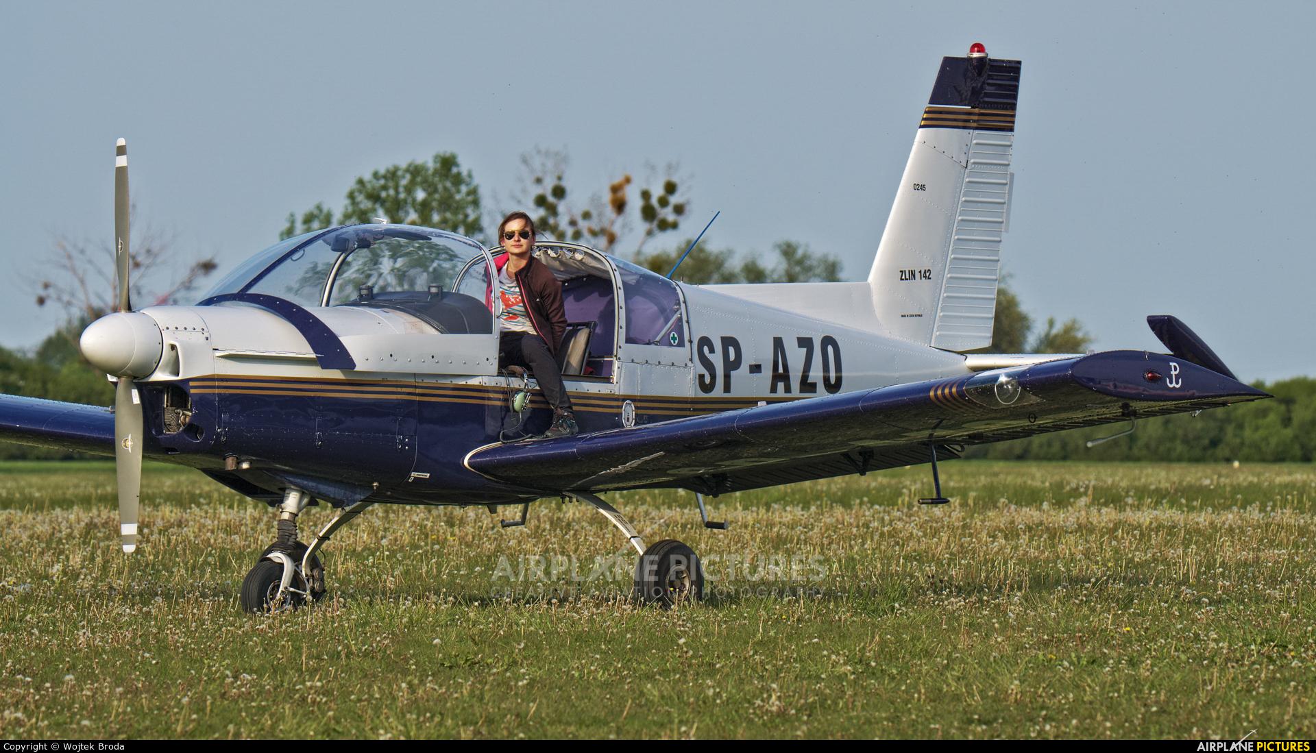 Aeroklub Poznański SP-AZO aircraft at Wrocław - Szymanów