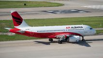 First ever visit of Air Albania  A319 to Zurich title=