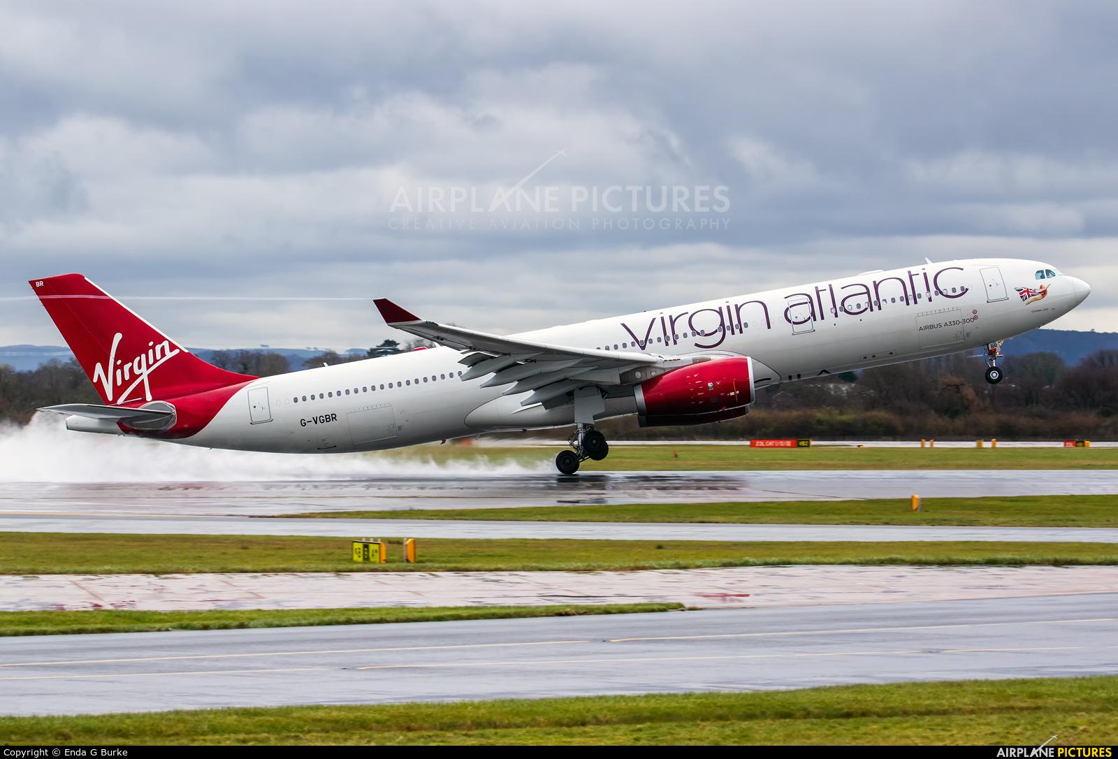 Virgin Atlantic G-VGBR aircraft at Manchester