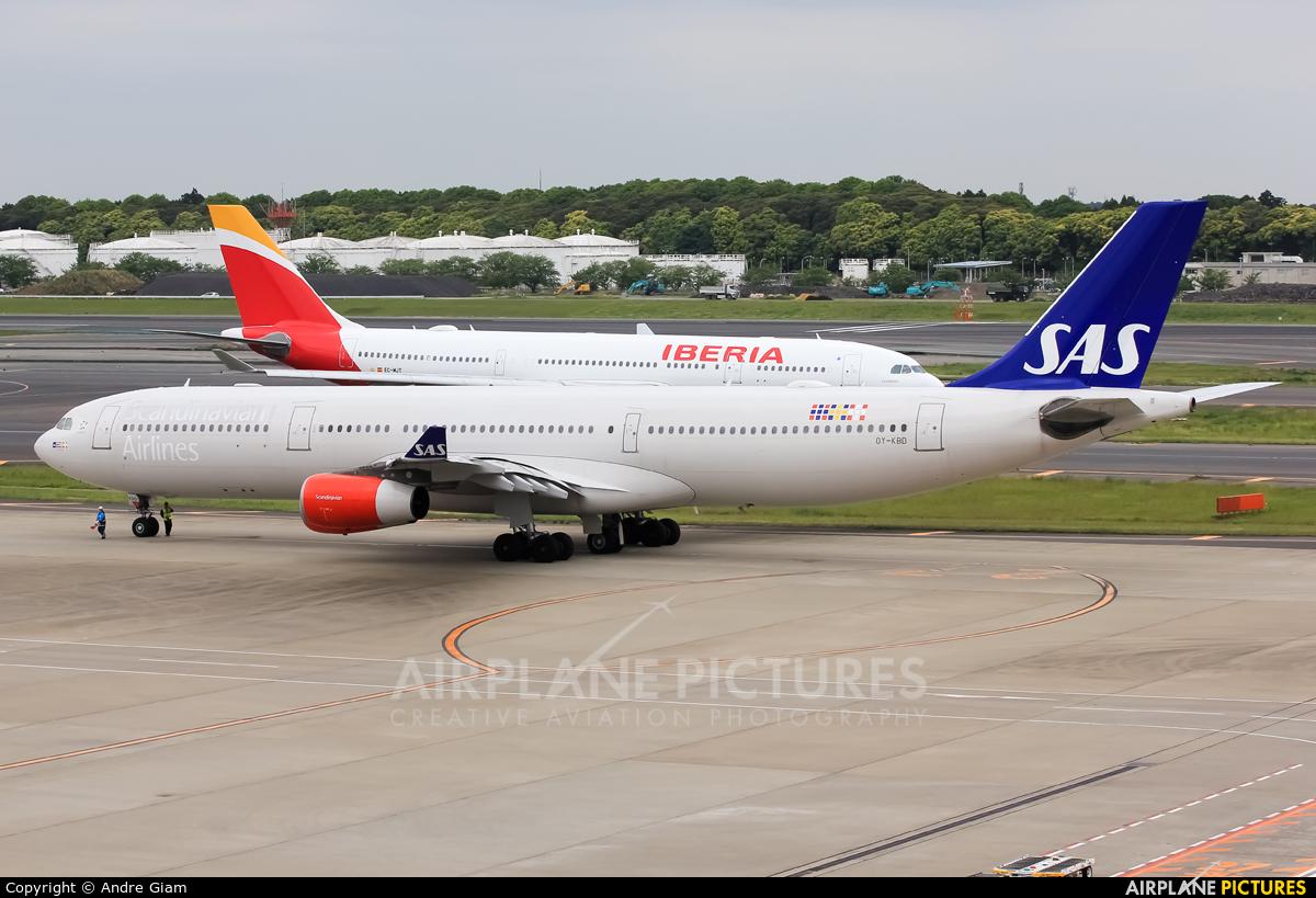 SAS - Scandinavian Airlines OY-KBD aircraft at Tokyo - Narita Intl