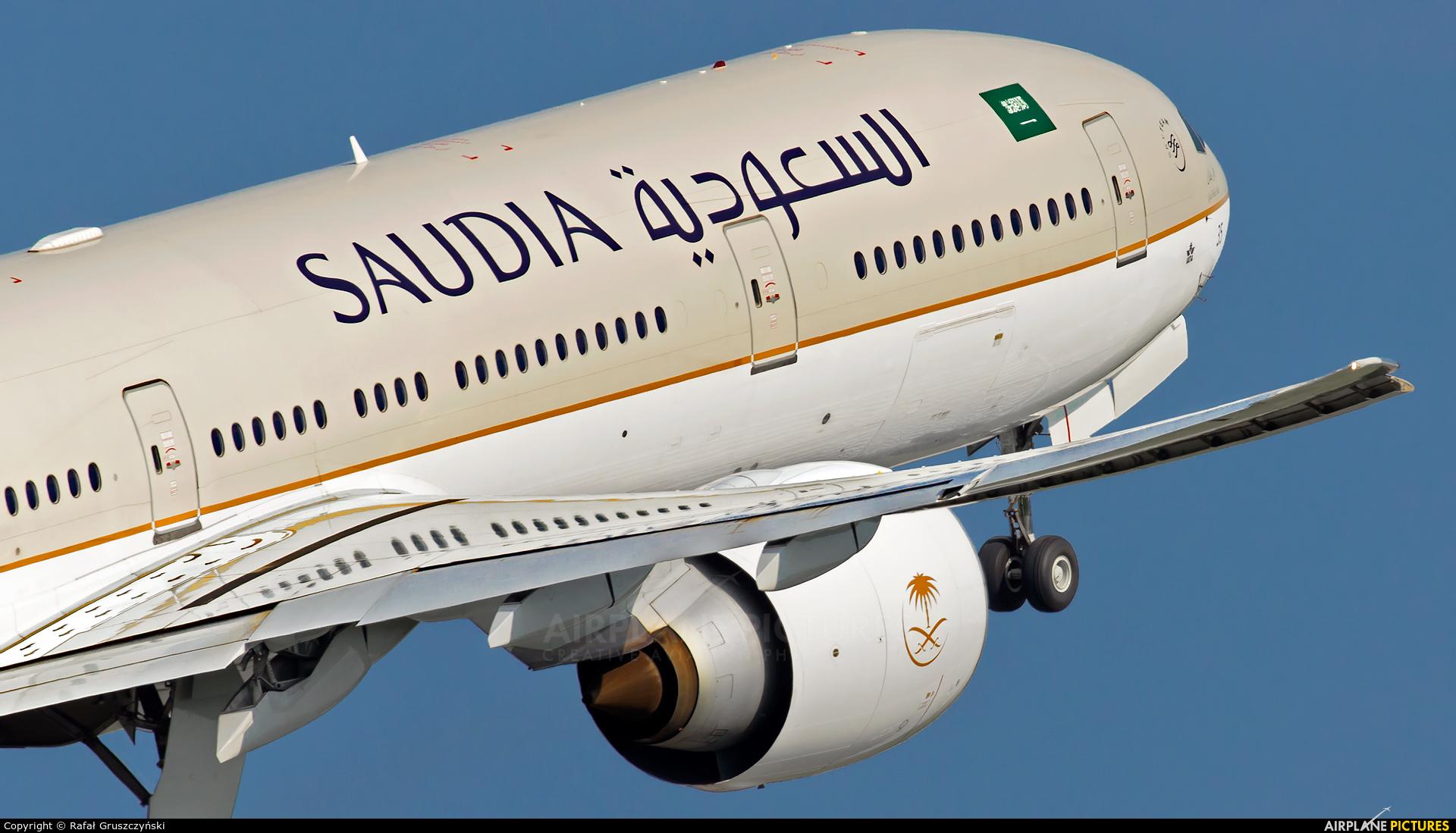 Saudi Arabian Airlines HZ-AK35 aircraft at Warsaw - Frederic Chopin