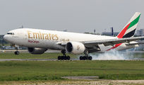 Emirates SkyCargo B777F visited Warsaw title=