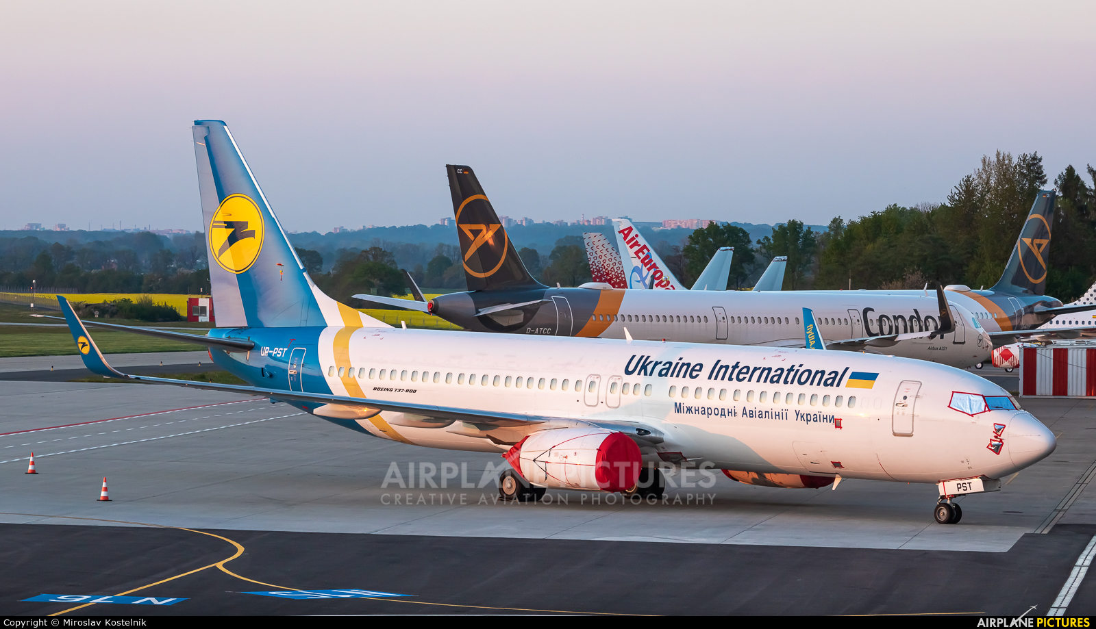 Ukraine International Airlines UR-PST aircraft at Ostrava Mošnov