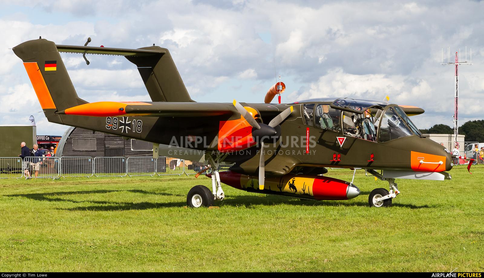 Bronco Demo Team G-ONAA aircraft at Biggin Hill