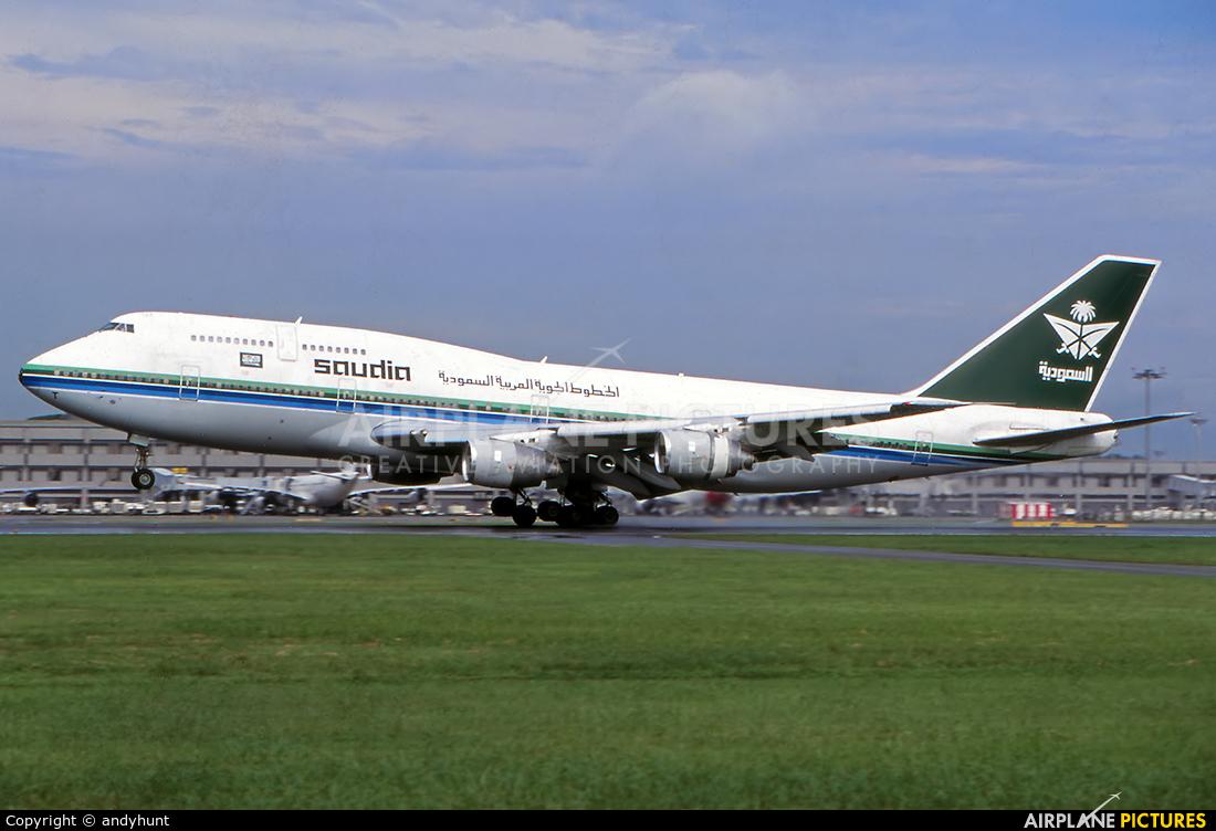 Saudi Arabian Airlines HZ-AIT aircraft at Singapore - Changi