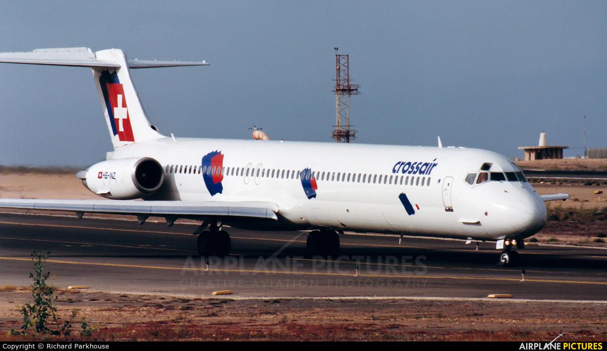 Crossair HB-INZ aircraft at Fuerteventura - Puerto del Rosario