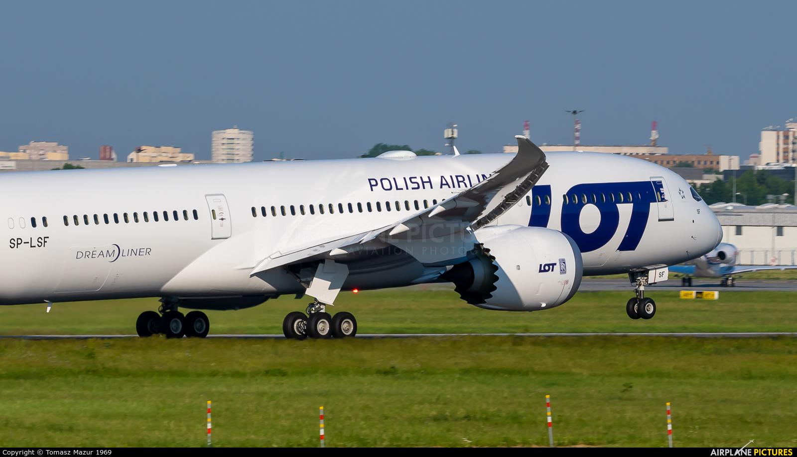 LOT - Polish Airlines SP-LSF aircraft at Warsaw - Frederic Chopin