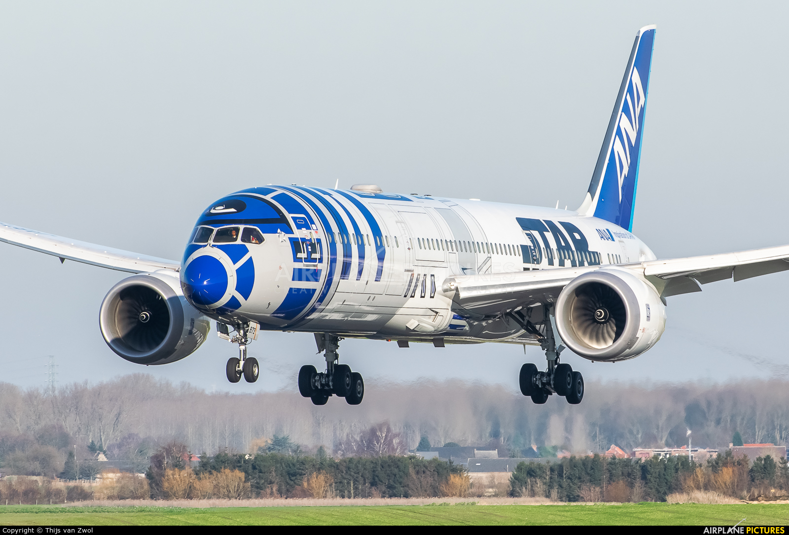 ANA - All Nippon Airways JA873A aircraft at Brussels - Zaventem
