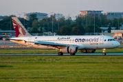 A7-AHO - Qatar Airways Airbus A320 aircraft