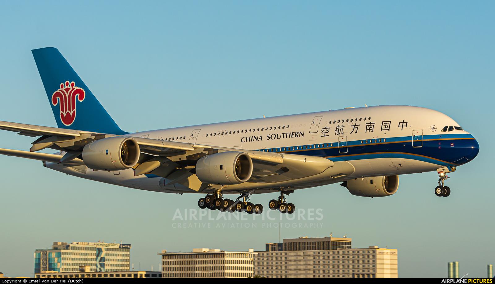 China Southern Airlines B-6137 aircraft at Los Angeles Intl