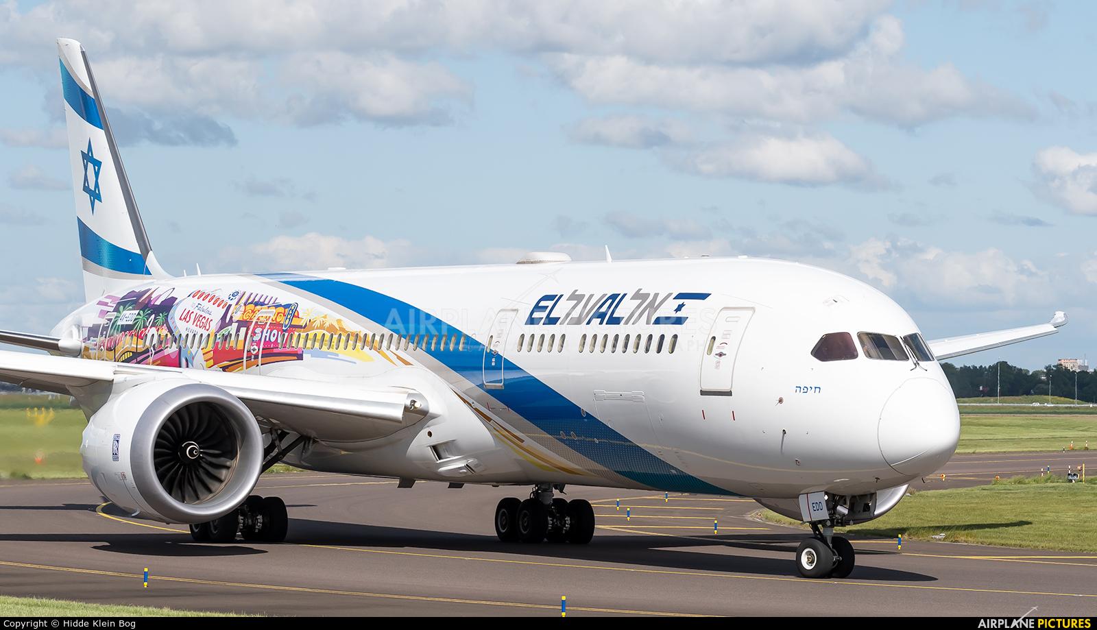 El Al Israel Airlines 4X-EDD aircraft at Amsterdam - Schiphol