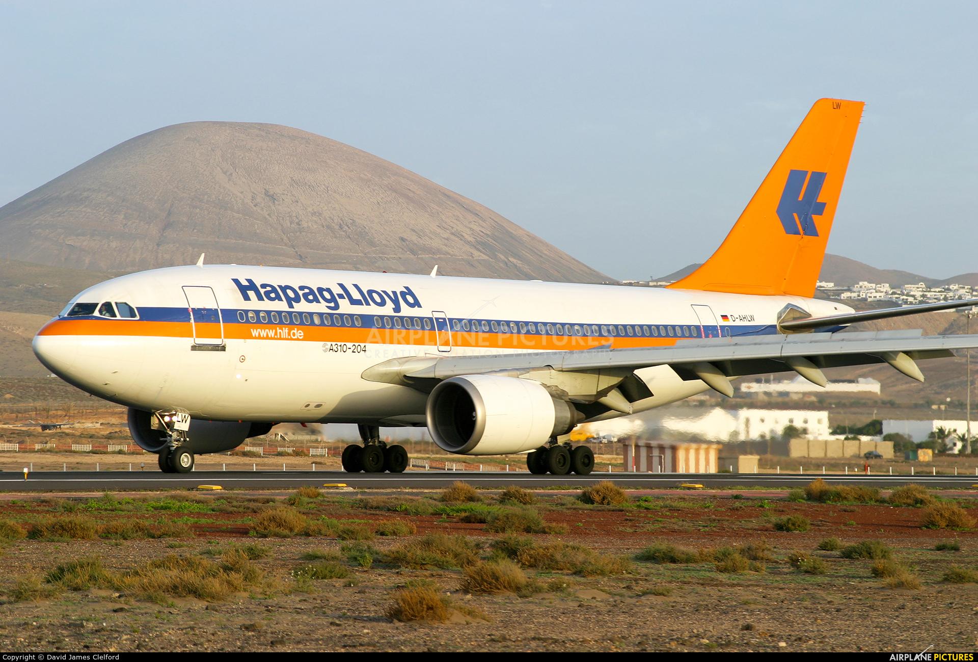 Hapag-Lloyd D-AHLW aircraft at Lanzarote - Arrecife