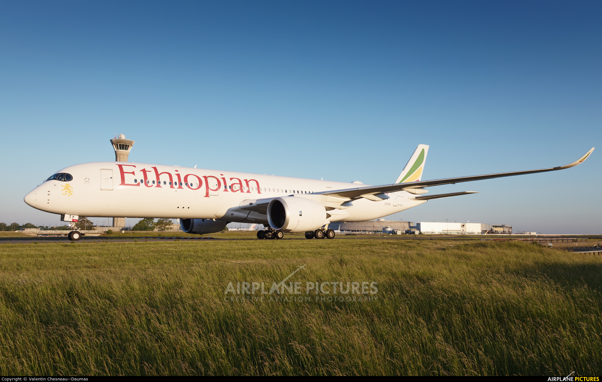 Ethiopian Airlines ET-ATY aircraft at Paris - Charles de Gaulle