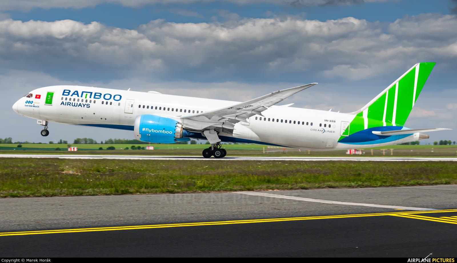 Bamboo Airways VN-A818 aircraft at Prague - Václav Havel