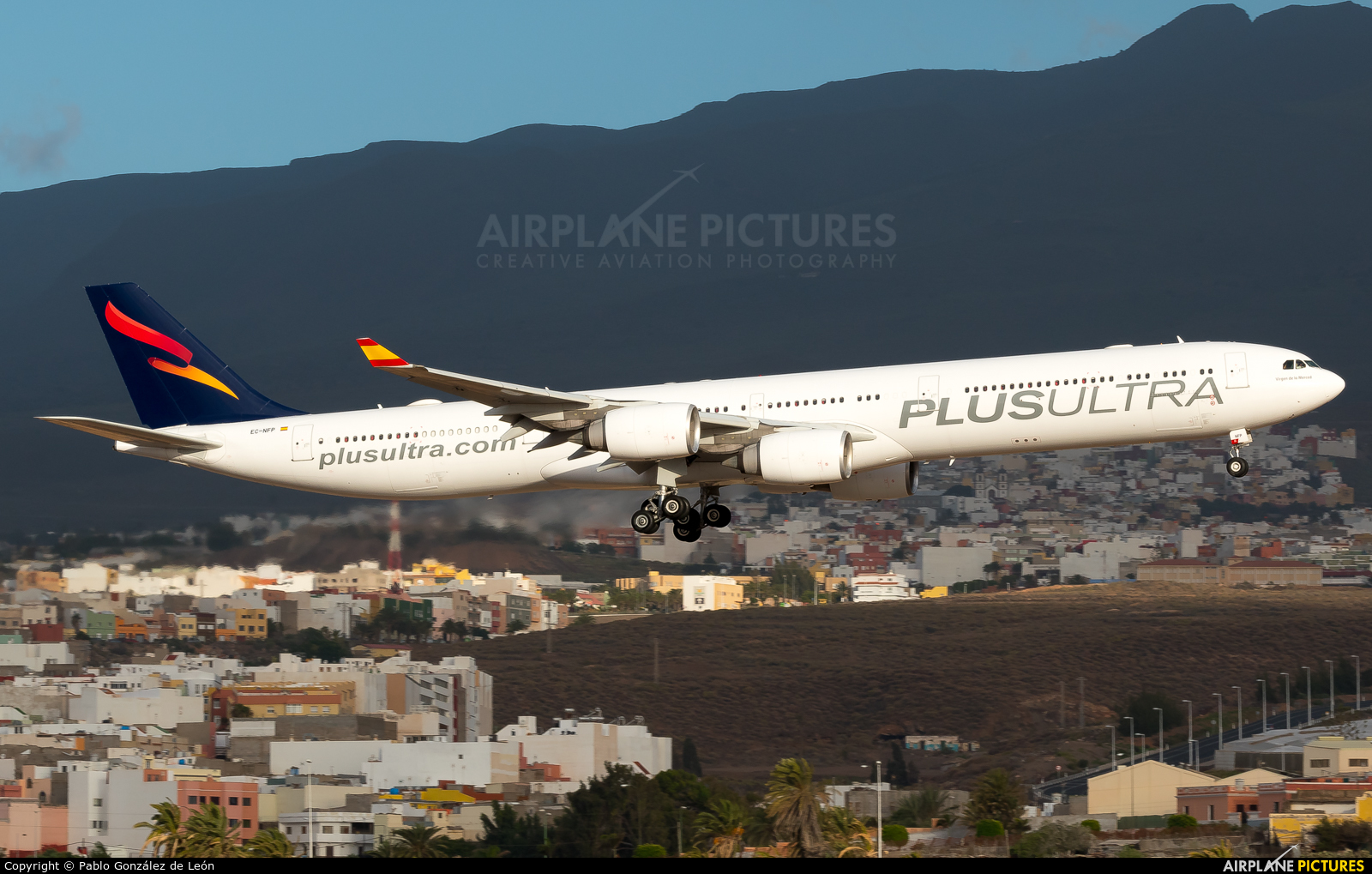 Plus Ultra EC-NFP aircraft at Aeropuerto de Gran Canaria