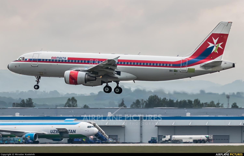 Air Malta 9H-AEI aircraft at Ostrava Mošnov