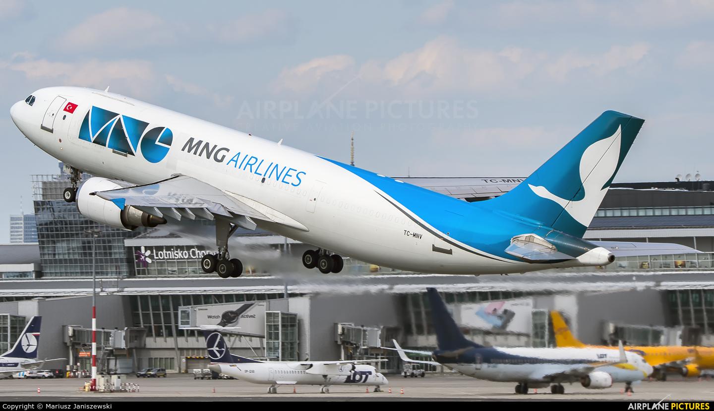 MNG Cargo TC-MNV aircraft at Warsaw - Frederic Chopin
