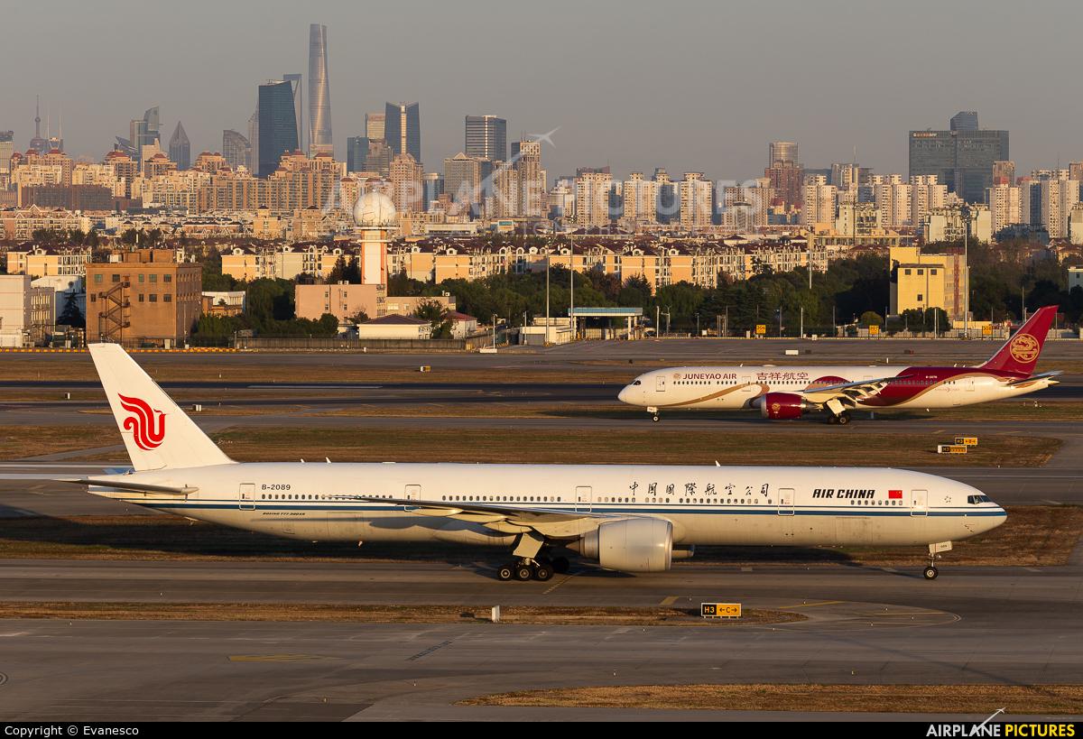 Air China B2089 aircraft at Shanghai - Hongqiao