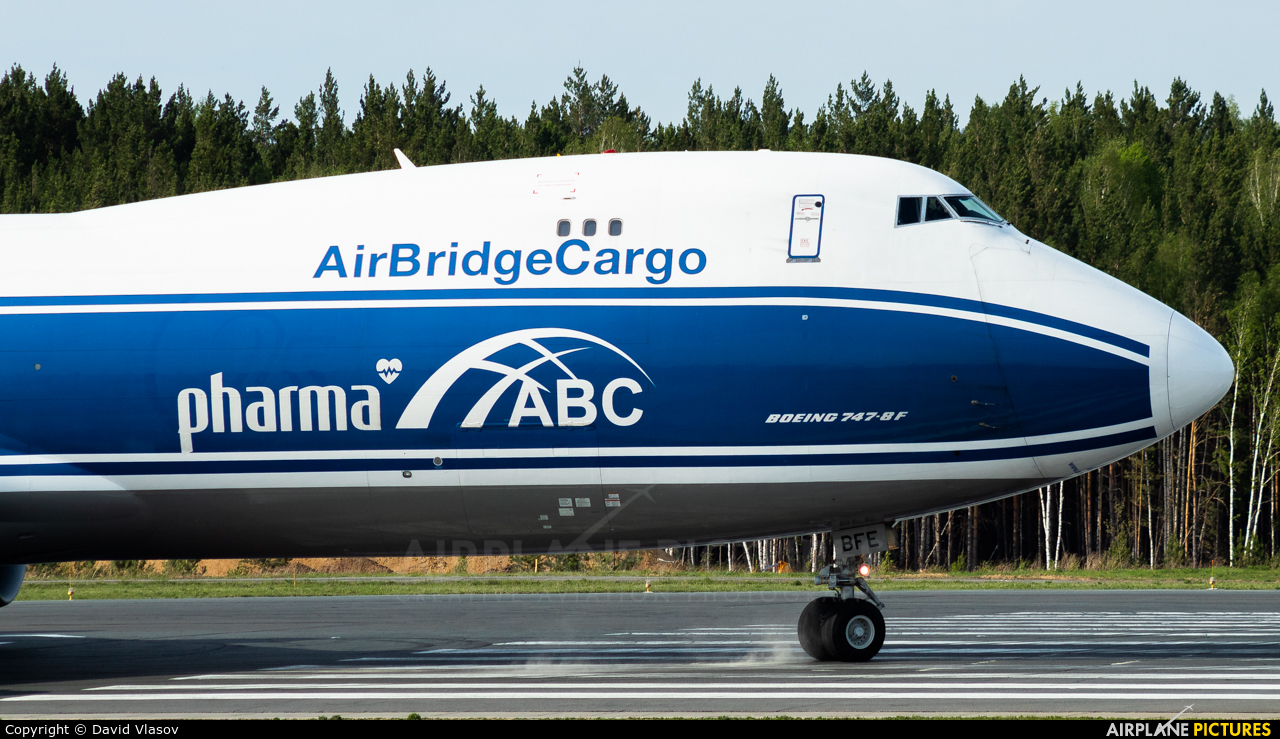 Air Bridge Cargo VQ-BFE aircraft at Krasnoyarsk - Yemelyanovo