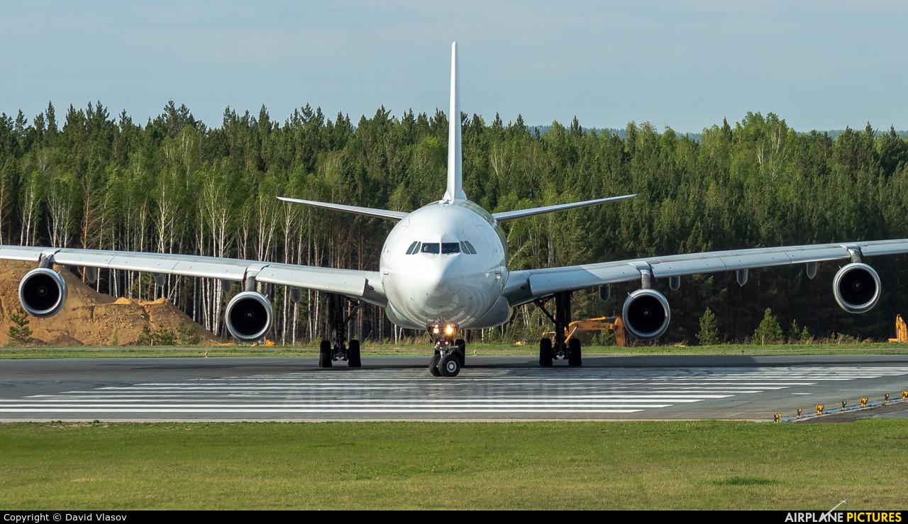 Air Belgium OO-ABE aircraft at Krasnoyarsk - Yemelyanovo