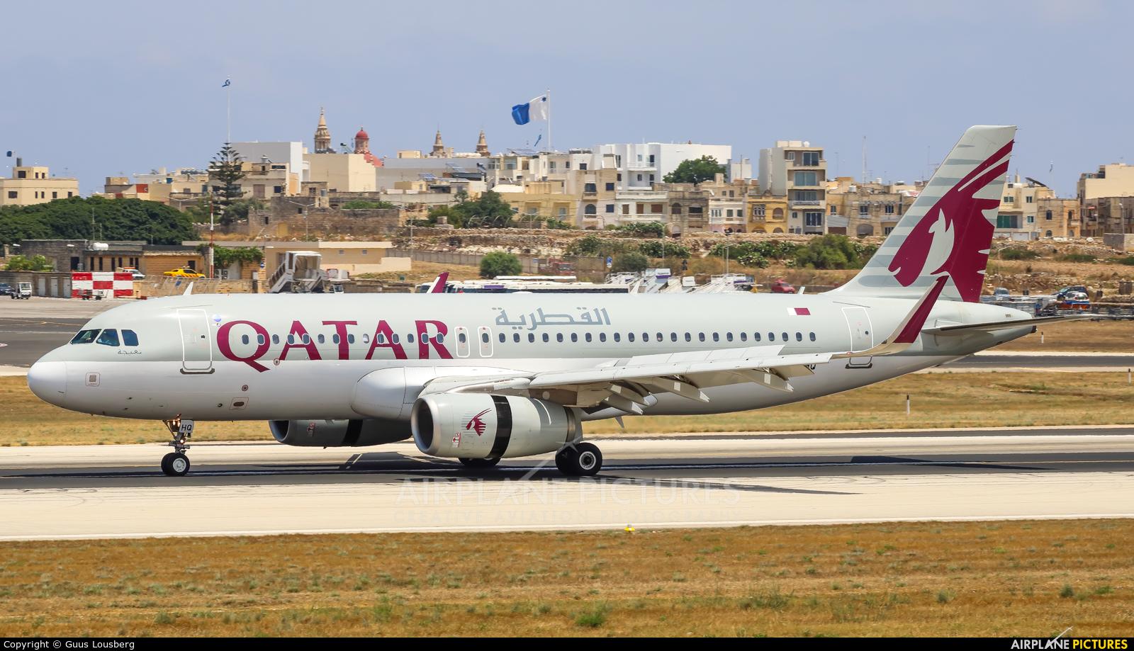 Qatar Airways A7-AHQ aircraft at Malta Intl
