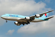 Korean Air Boeing 747-8 visited Budapest title=