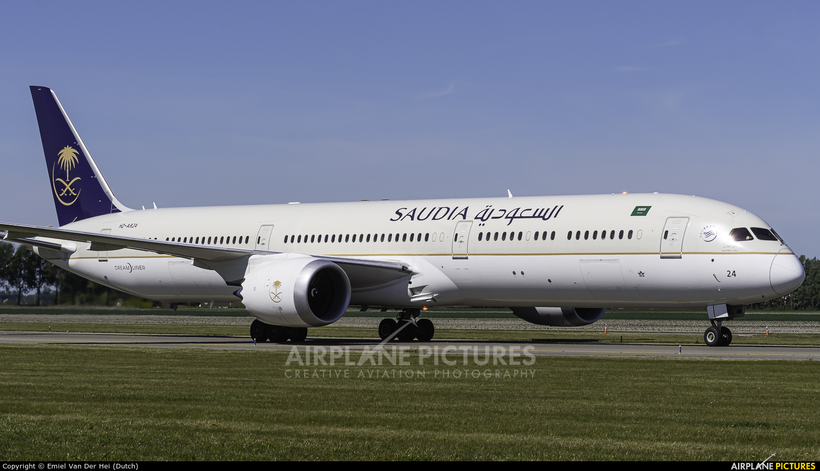 Saudi Arabian Airlines HZ-AR24 aircraft at Amsterdam - Schiphol