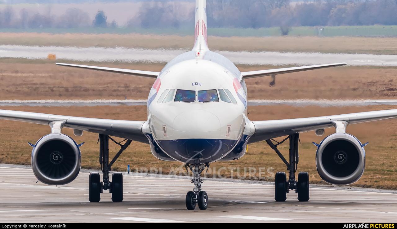 British Airways G-MEDU aircraft at Ostrava Mošnov