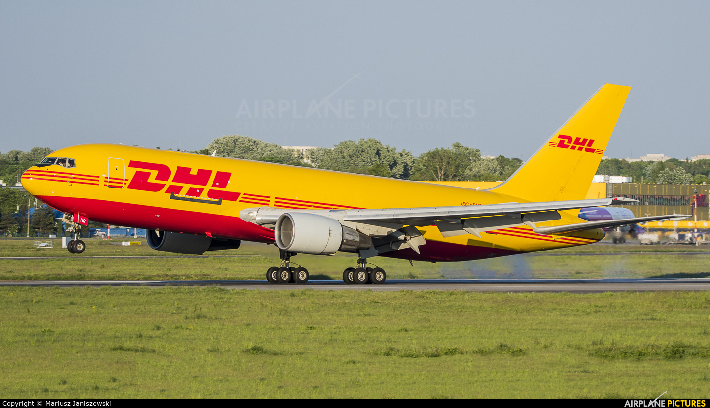 DHL Cargo A9C-DHR aircraft at Warsaw - Frederic Chopin