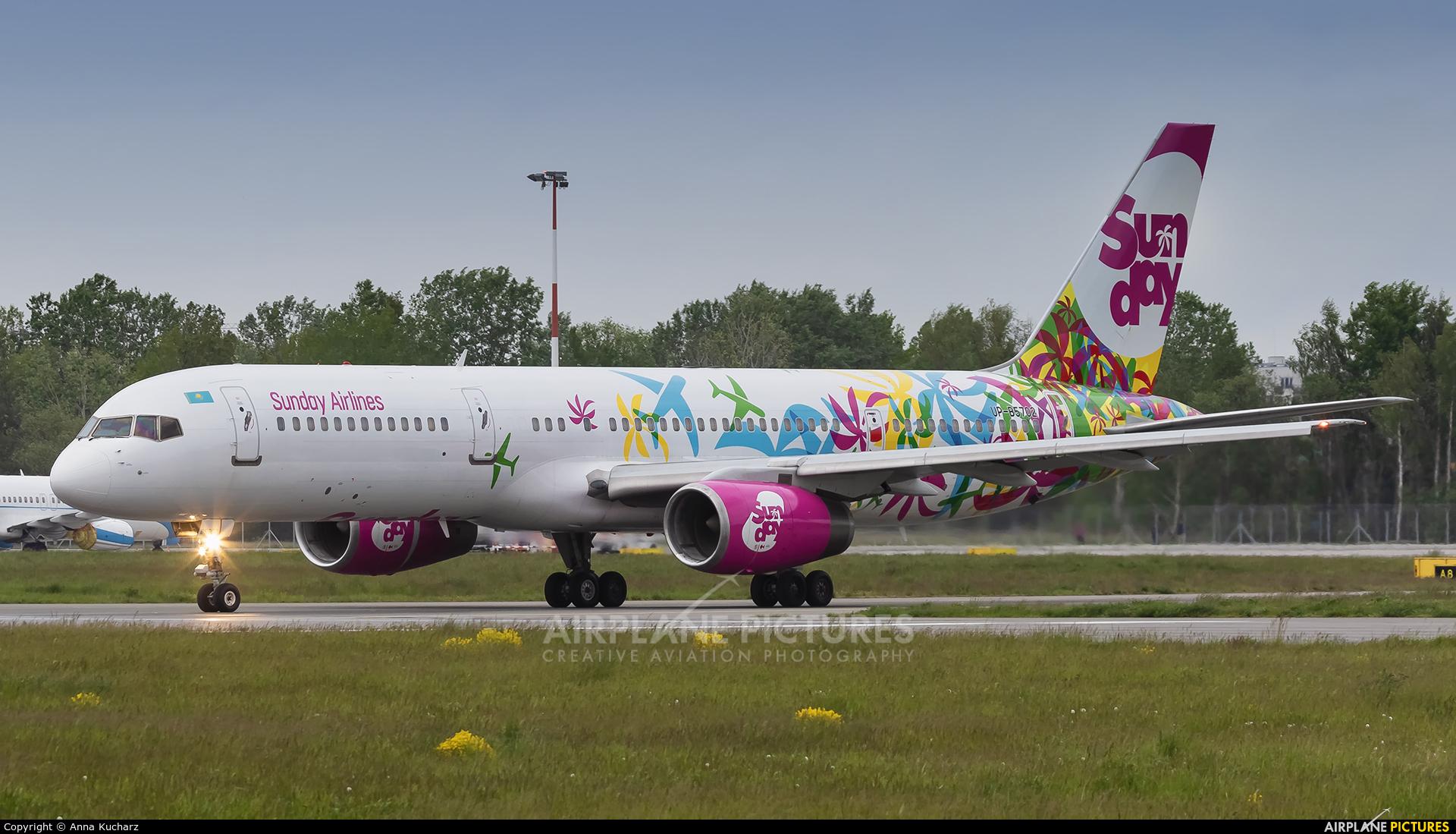 Sunday UR-B5702 aircraft at Warsaw - Frederic Chopin