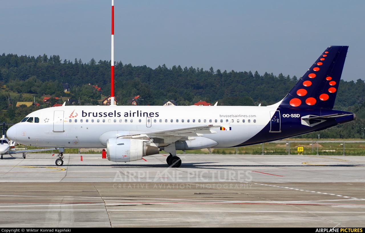 Brussels Airlines OO-SSD aircraft at Kraków - John Paul II Intl