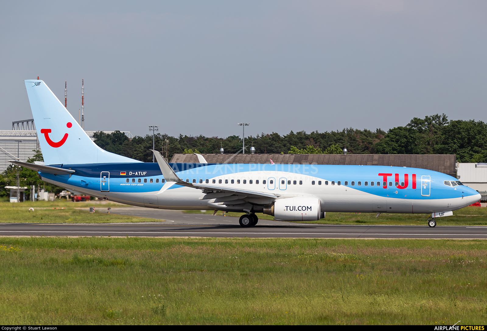 TUIfly D-ATUF aircraft at Frankfurt