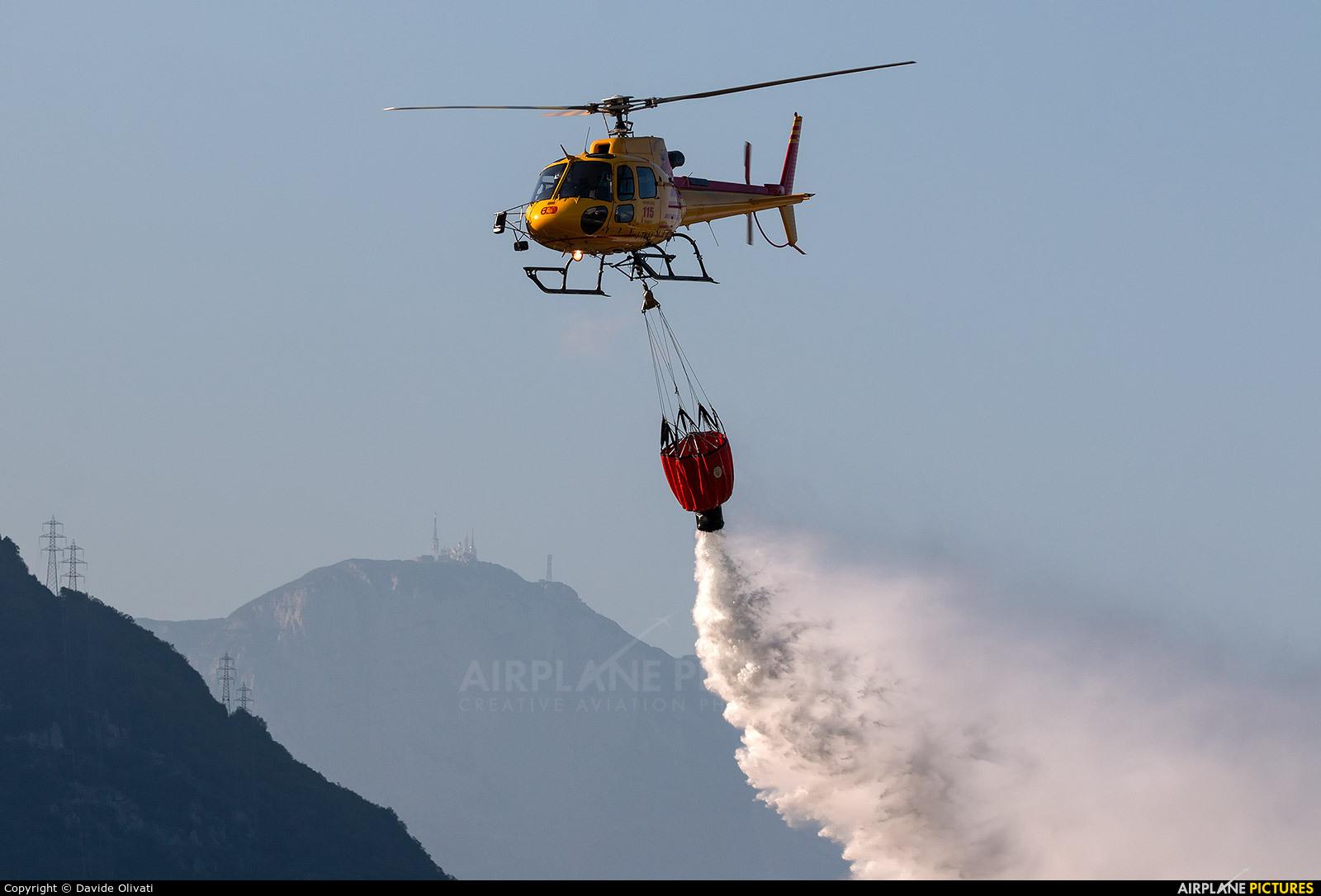 Italy - Vigili del Fuoco I-TNAA aircraft at Trento - Mattarello