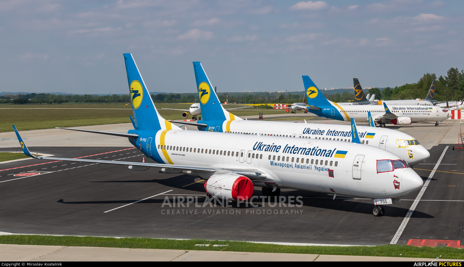 Ukraine International Airlines UR-PSS aircraft at Ostrava Mošnov