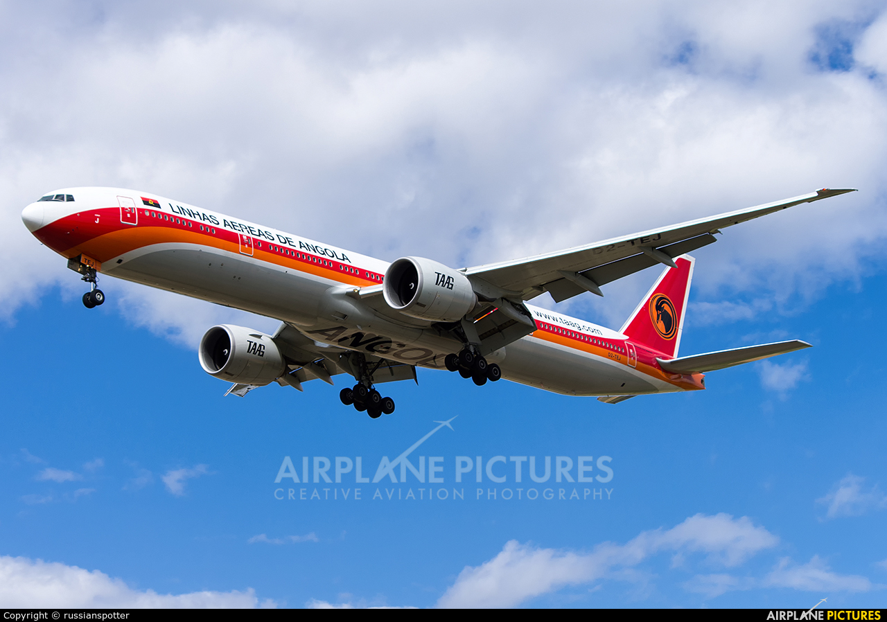 TAAG - Angola Airlines D2-TEJ aircraft at Moscow - Sheremetyevo