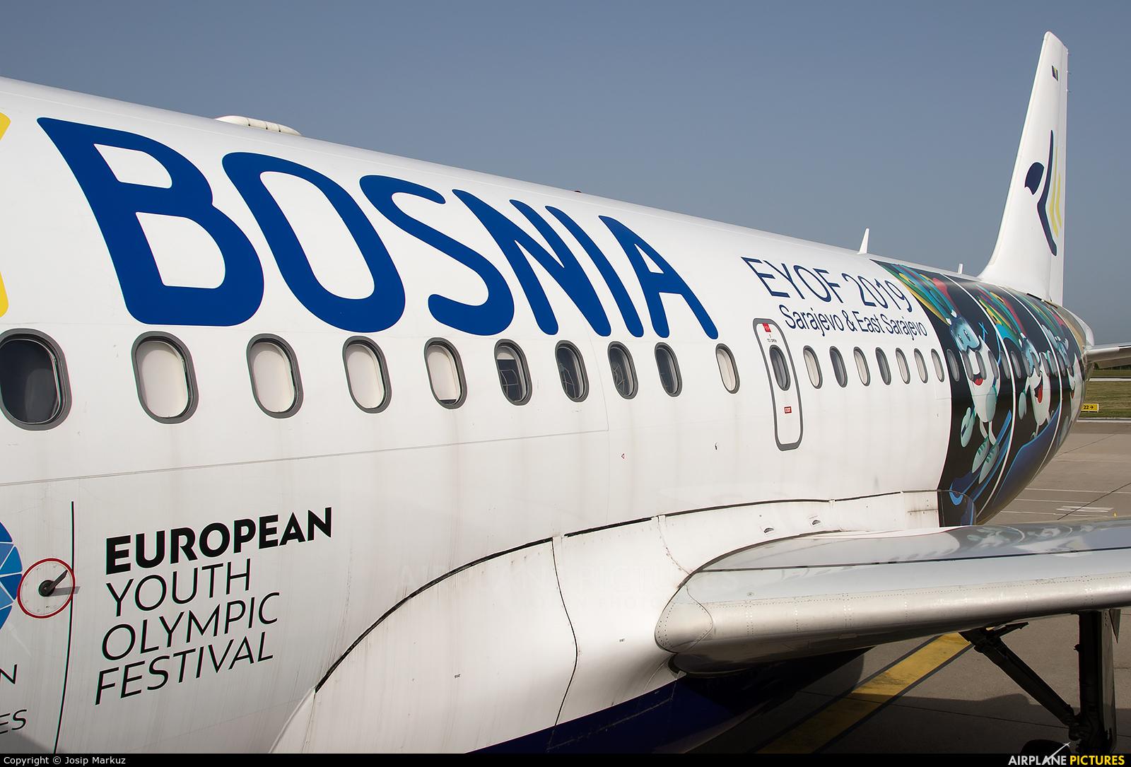 Fly Bosnia E7-FBA aircraft at Zagreb