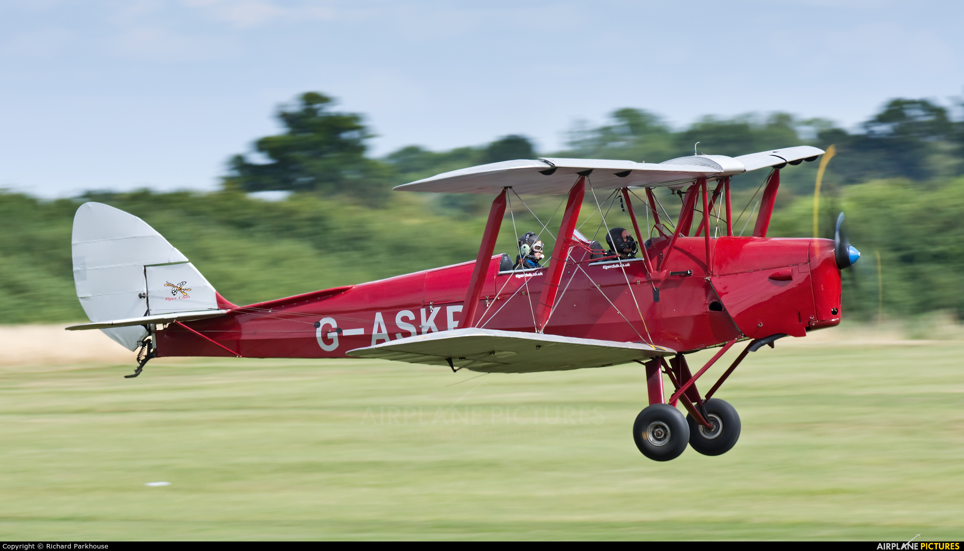 Private G-ASKP aircraft at Old Warden