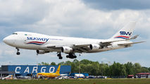 Rare visit of SilkWay Boeing 747F to Warsaw title=