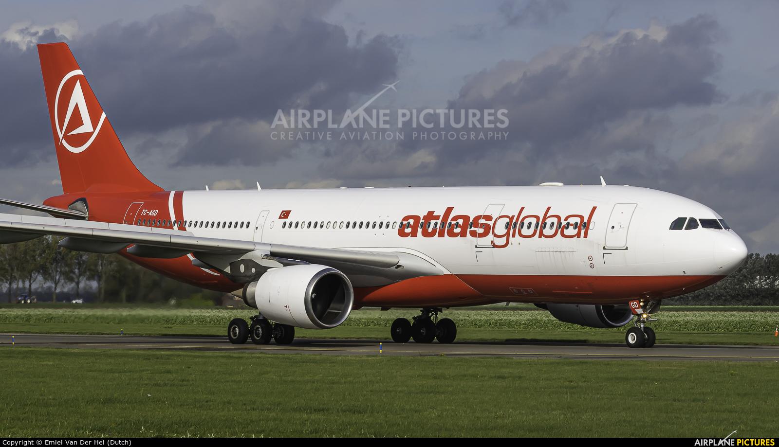 Atlasglobal TC-AGD aircraft at Amsterdam - Schiphol