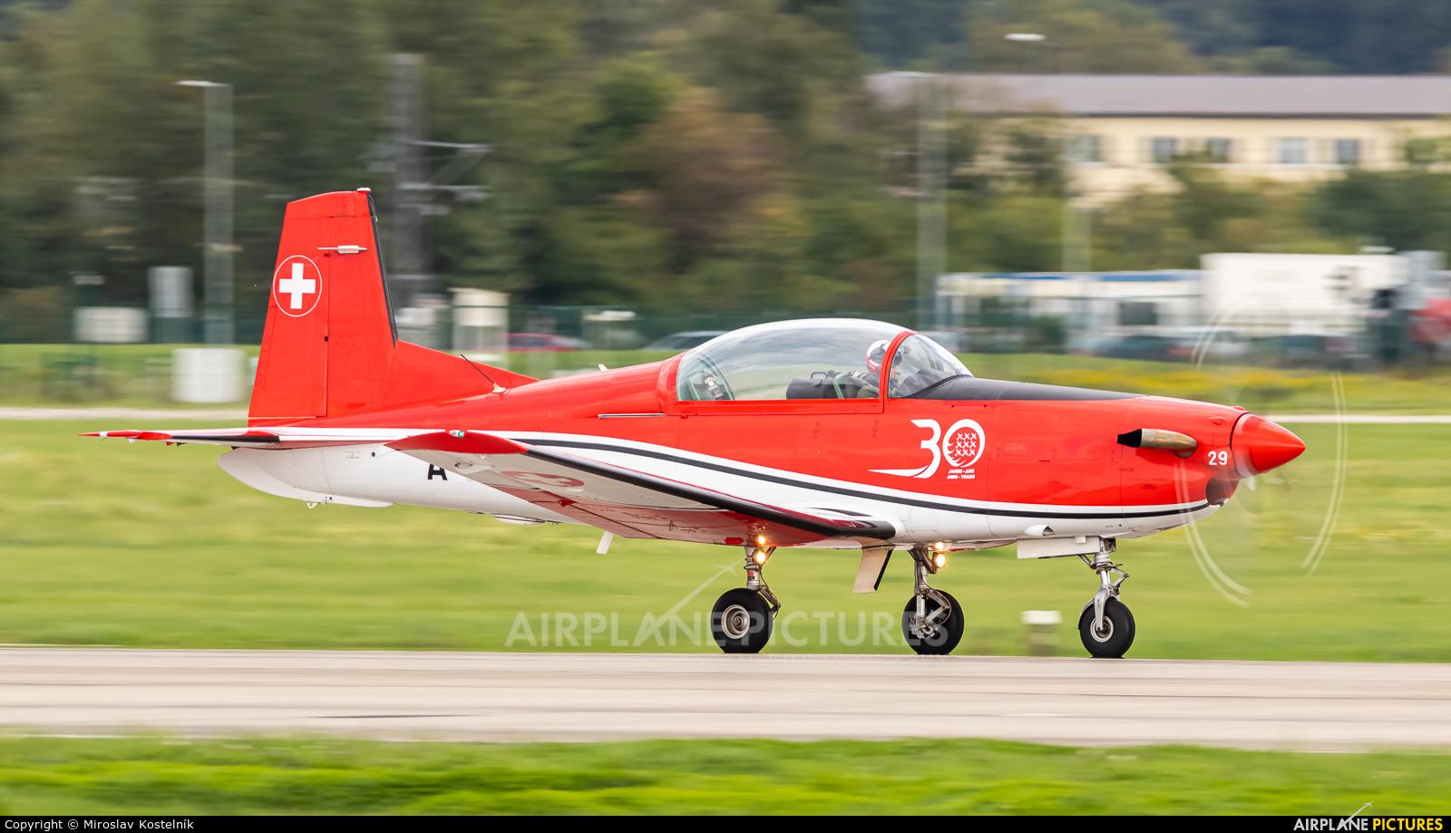 Switzerland - Air Force: PC-7 Team A-929 aircraft at Ostrava Mošnov