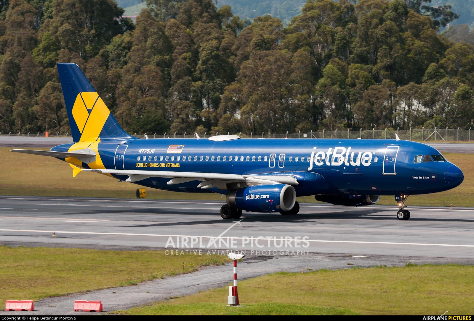 JetBlue Airways N775JB aircraft at Medellin - Jose Maria Cordova Intl