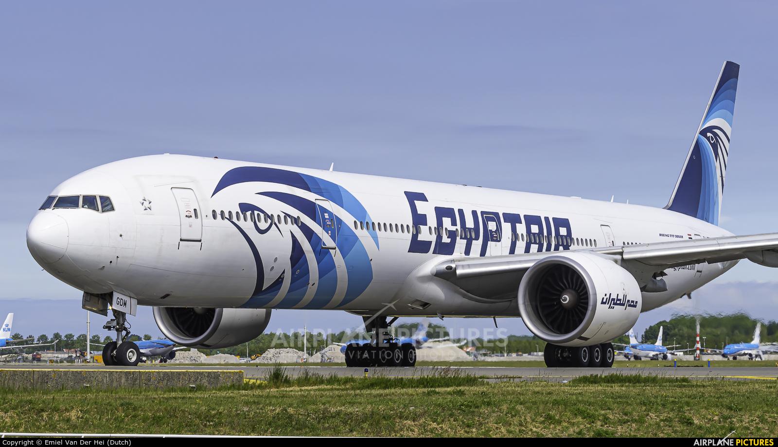 Egyptair SU-GDM aircraft at Amsterdam - Schiphol