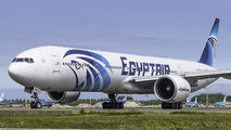 Egyptair Boeing 777-300ER visited Amsterdam as a medical cargo charter title=
