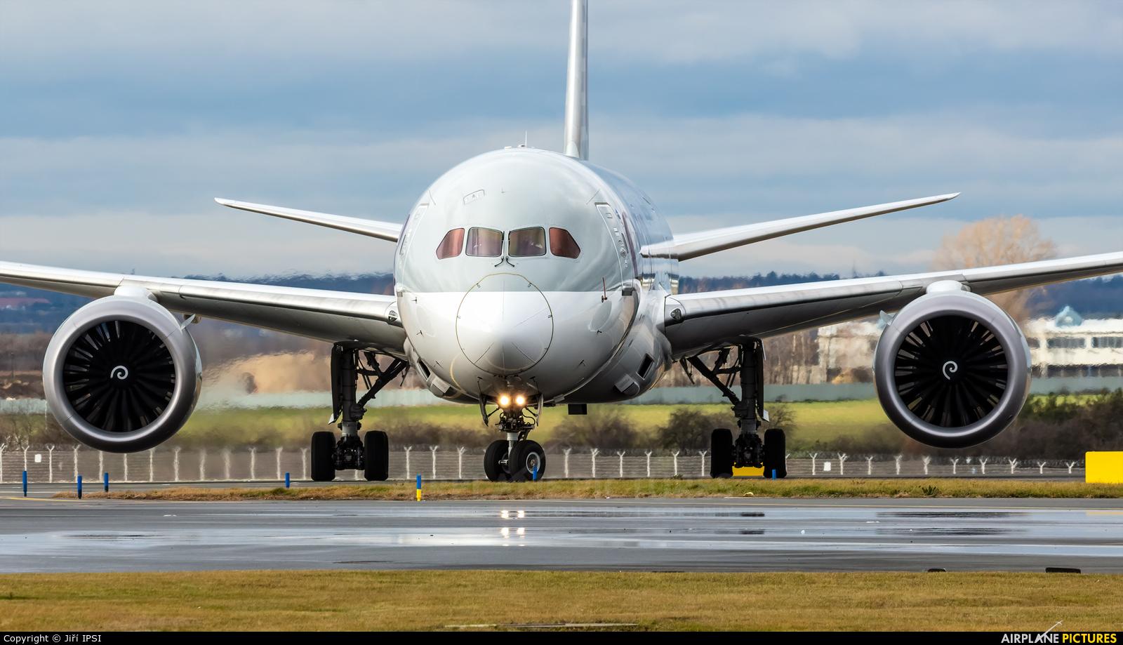 Qatar Airways A7-BDA aircraft at Prague - Václav Havel