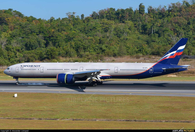 Aeroflot VQ-BFL aircraft at Phuket