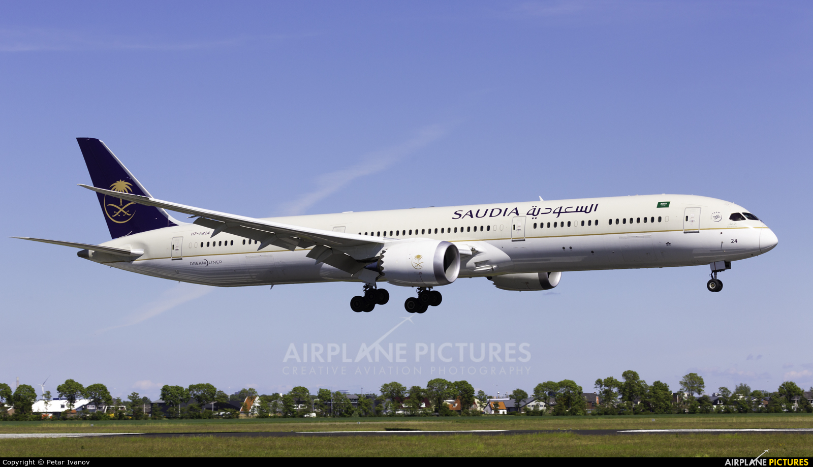 Saudi Arabian Airlines HZ-AR24 aircraft at Amsterdam - Schiphol