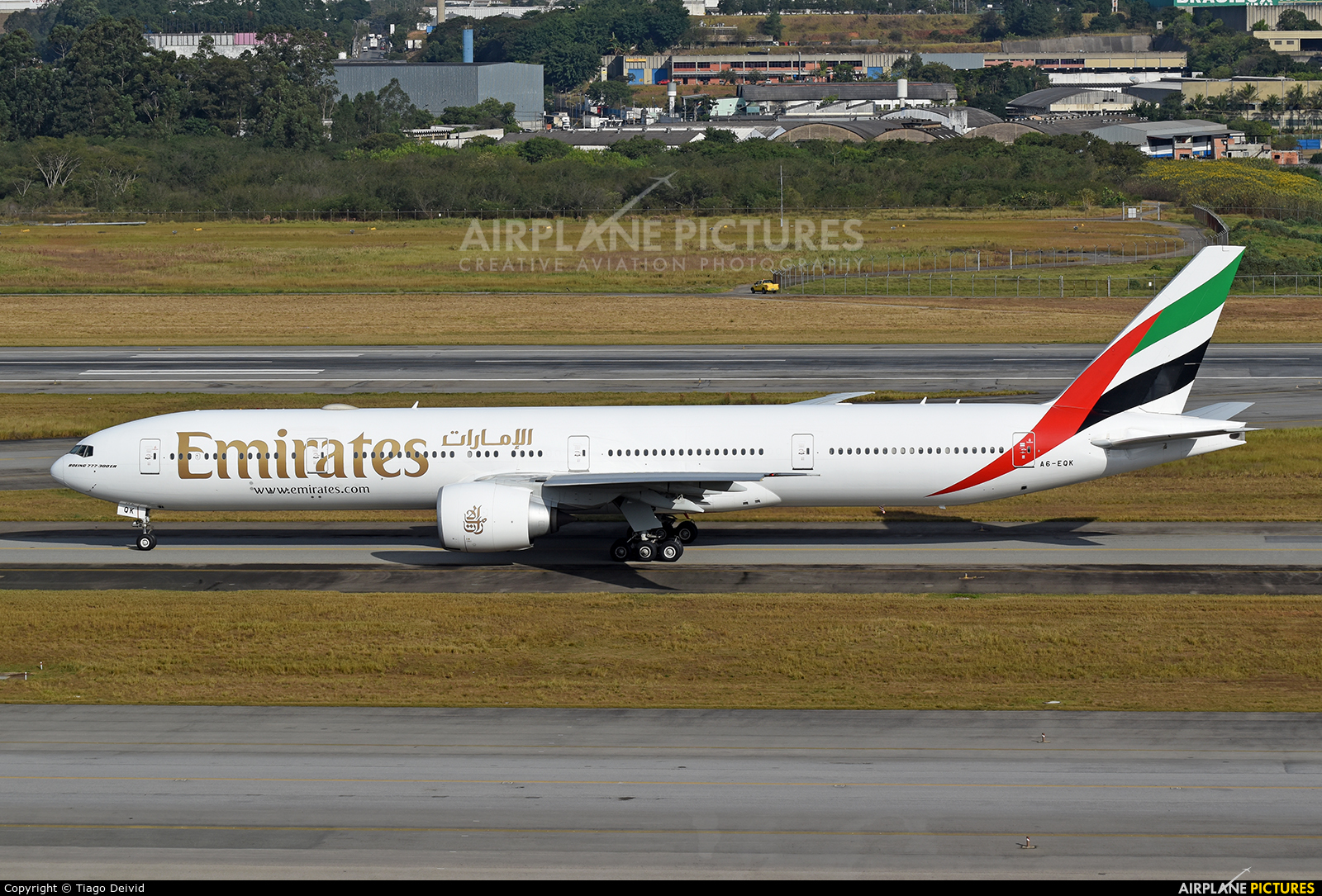 Emirates Airlines A6-EQK aircraft at São Paulo - Guarulhos
