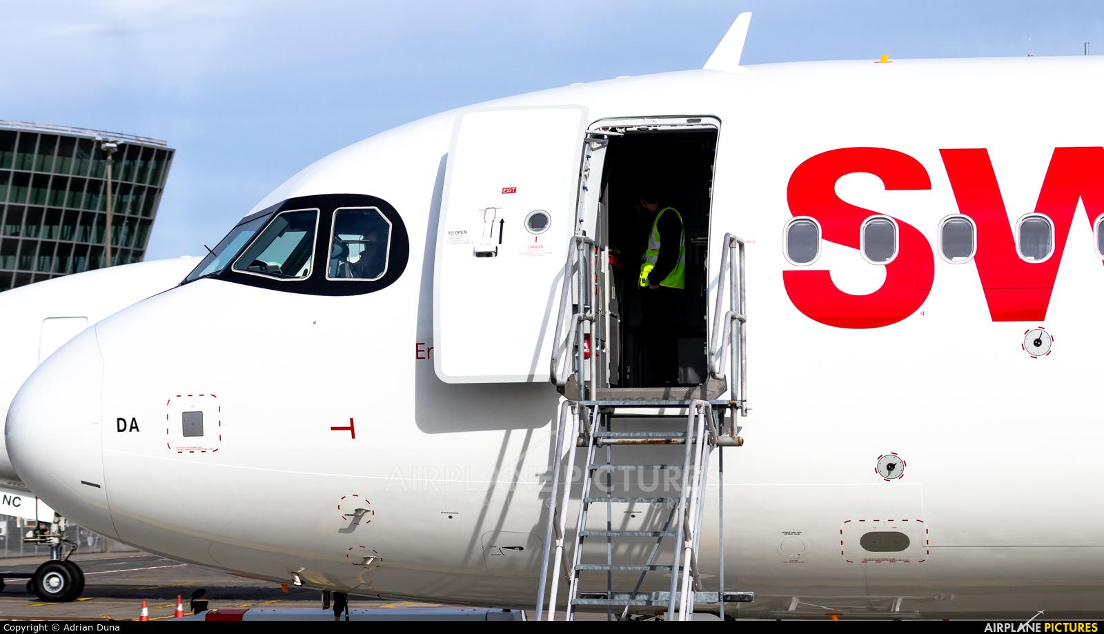 Swiss HB-JDA aircraft at Zurich