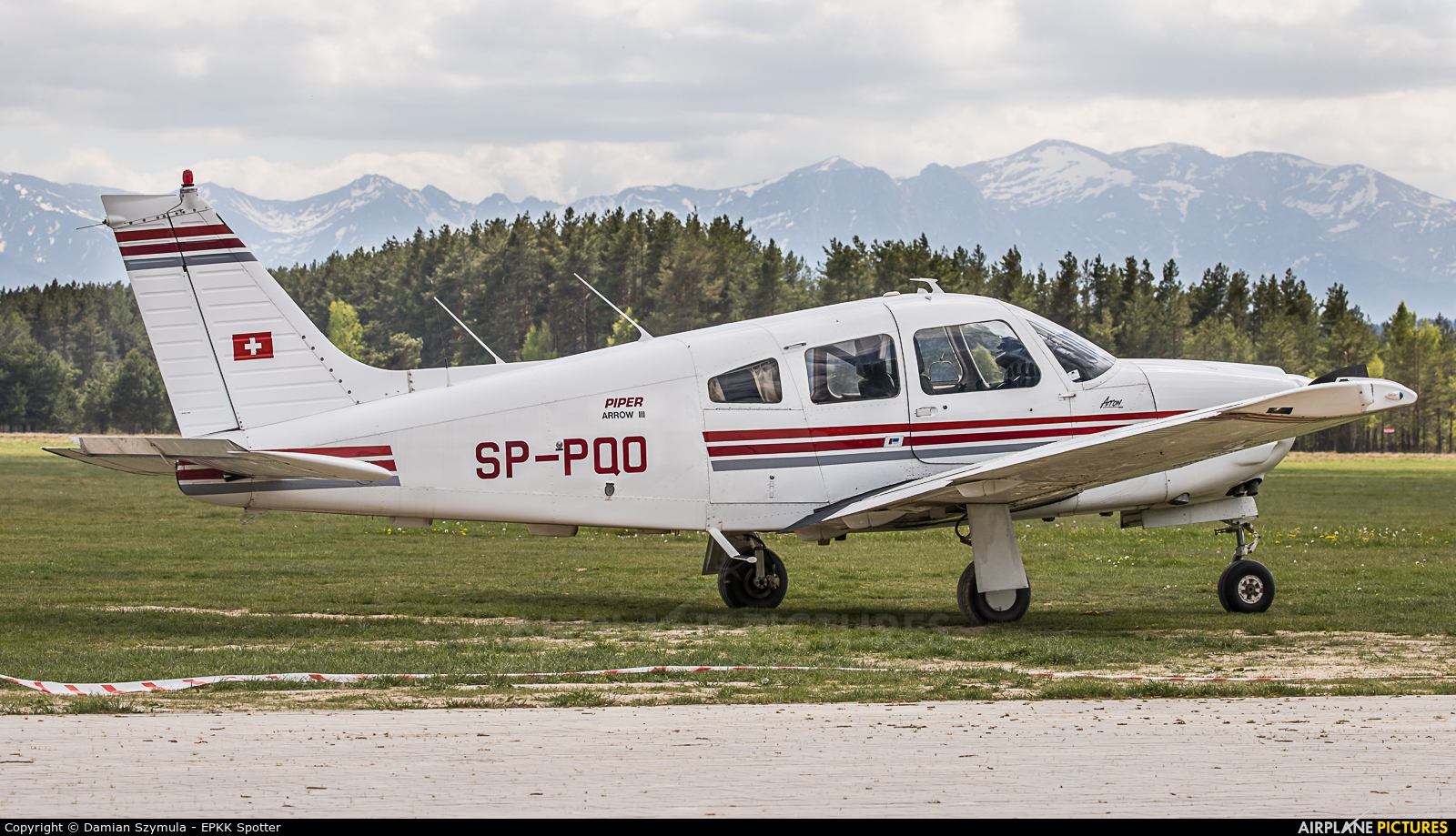 Private SP-PQO aircraft at Nowy Targ Airport