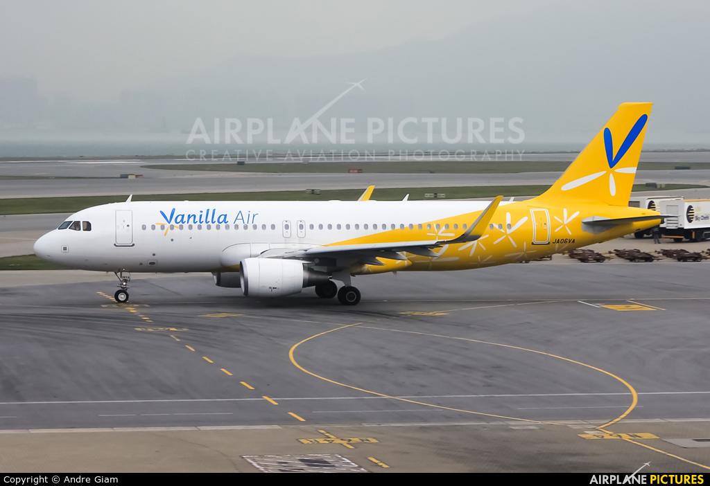 Vanilla Air JA06VA aircraft at HKG - Chek Lap Kok Intl